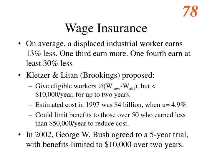 Wage Insurance