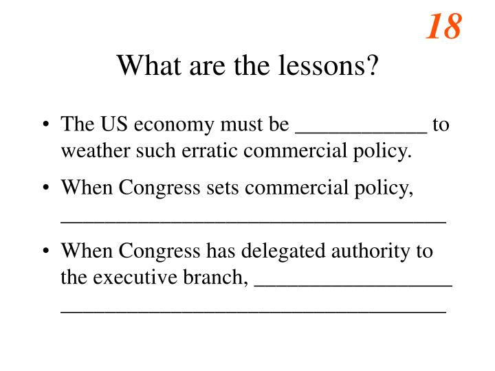 What are the lessons?