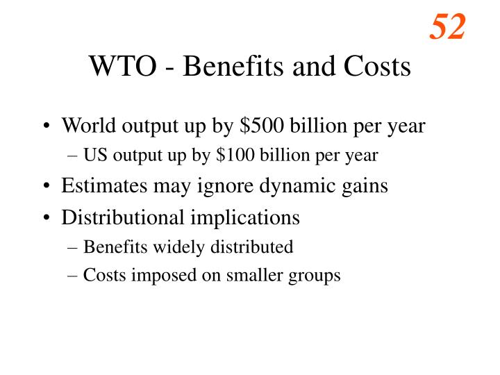 WTO - Benefits and Costs