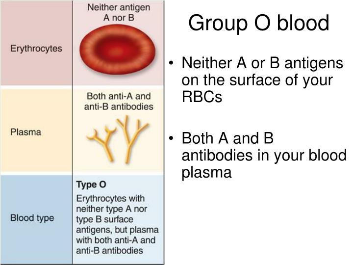 Group O blood
