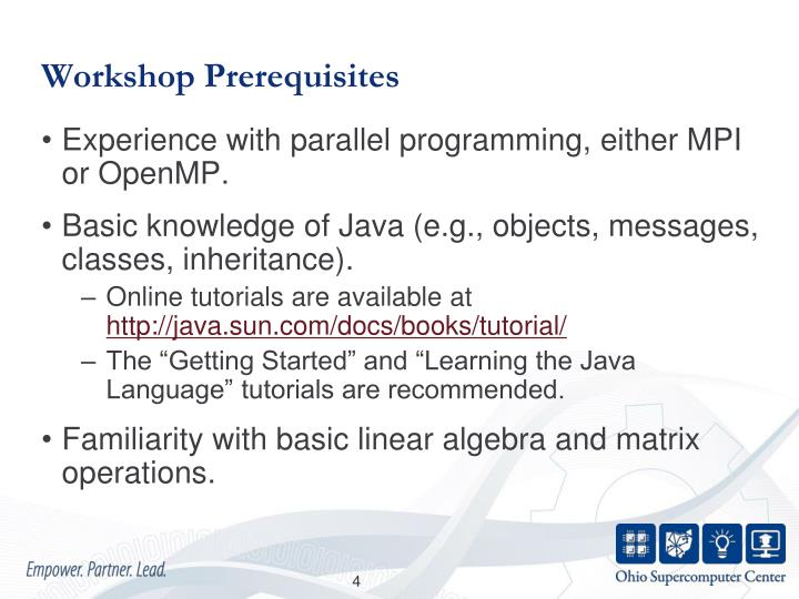 Workshop Prerequisites