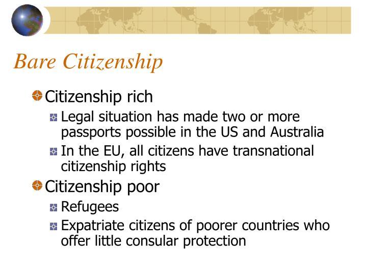 Bare Citizenship