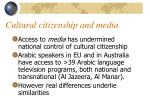 cultural citizenship and media