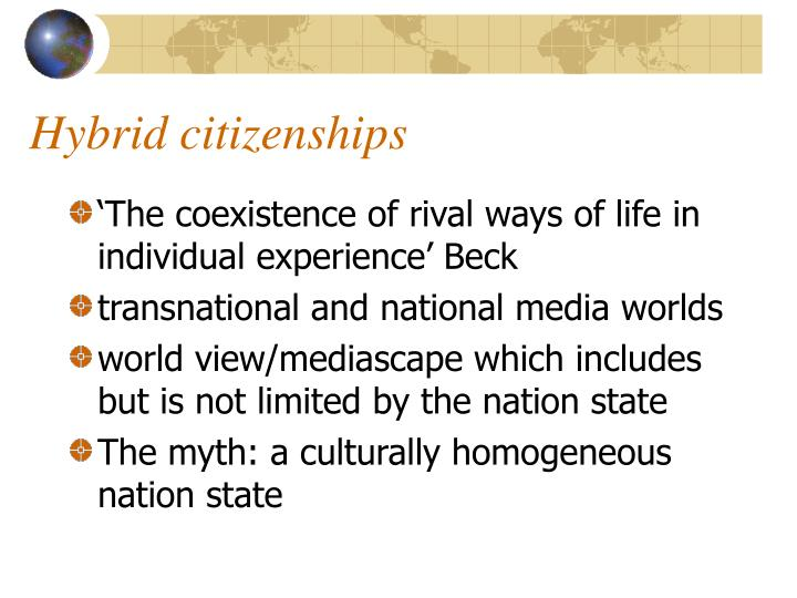 Hybrid citizenships