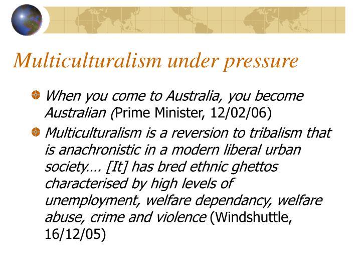Multiculturalism under pressure