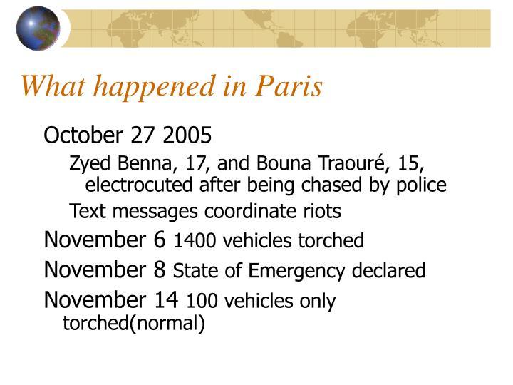 What happened in Paris