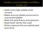 syllable juncture syllables and affixes grades 3 8