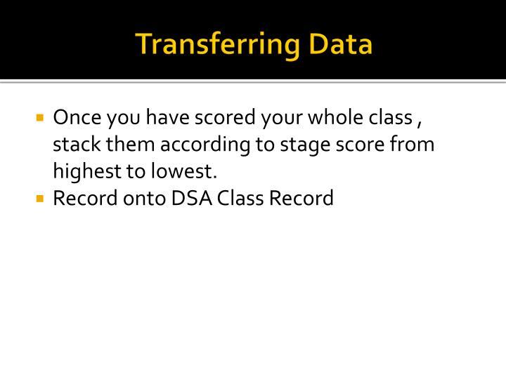 Transferring Data
