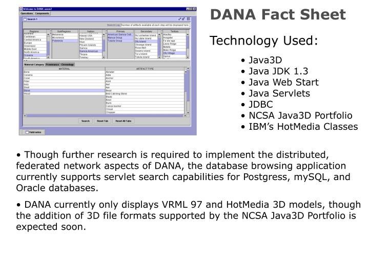 DANA Fact Sheet