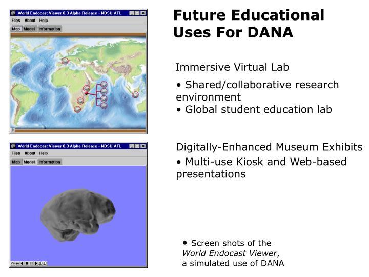 Future Educational Uses For DANA