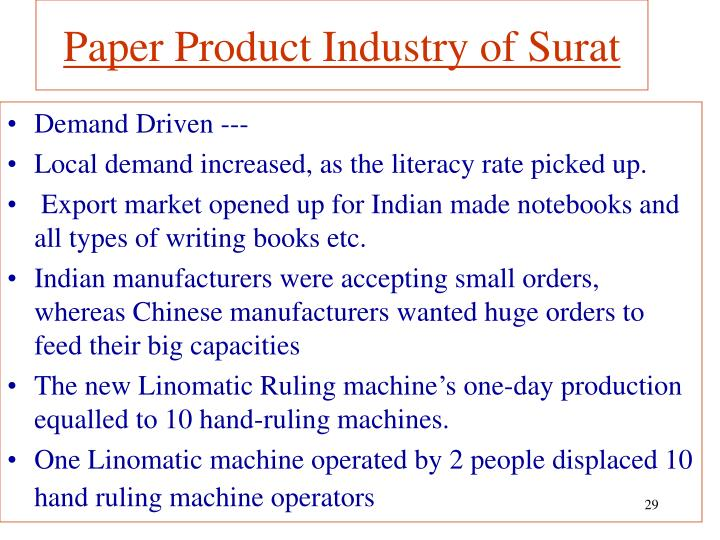 Paper Product Industry of Surat
