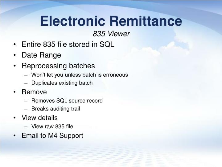 Electronic Remittance