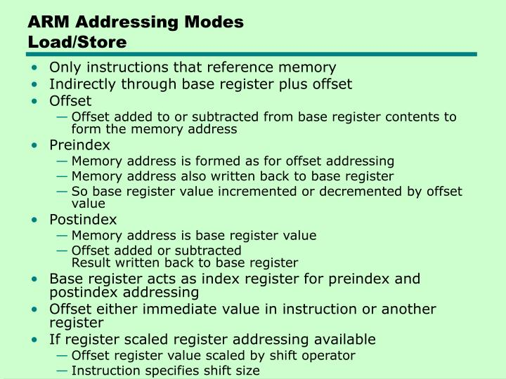 ARM Addressing Modes