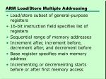arm load store multiple addressing