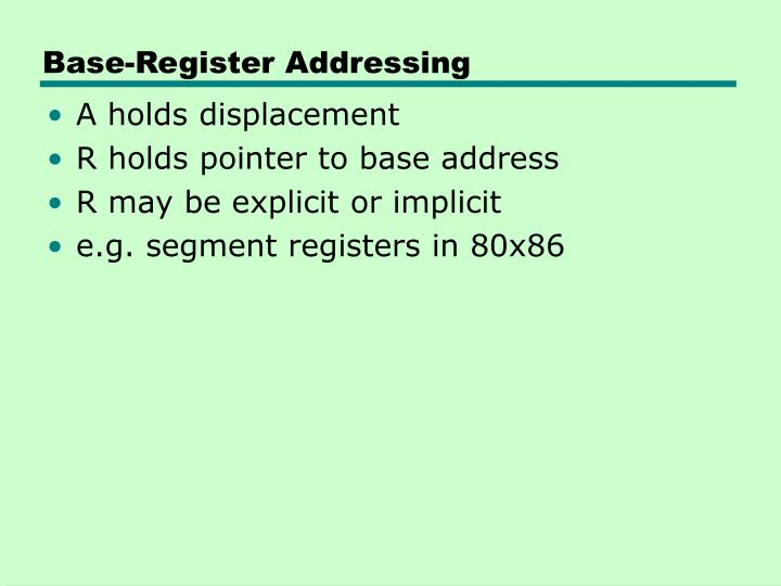 Base-Register Addressing