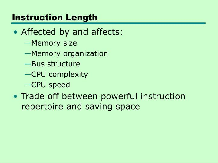 Instruction Length
