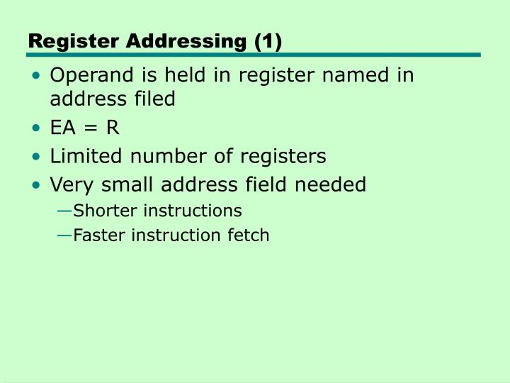 Register Addressing (1)