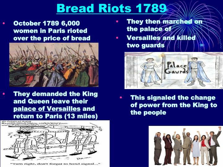 Bread Riots 1789