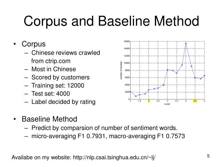 Corpus and Baseline Method