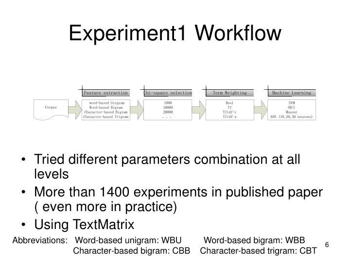 Experiment1 Workflow