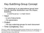key substring group concept