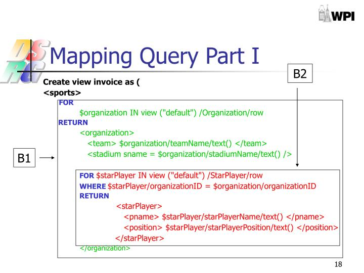 Mapping Query Part I