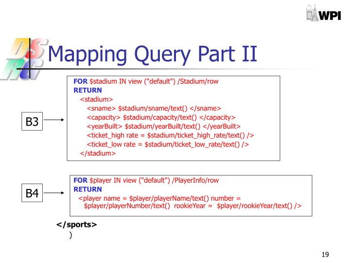 Mapping Query Part II