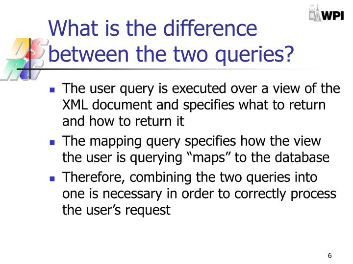 What is the difference between the two queries?