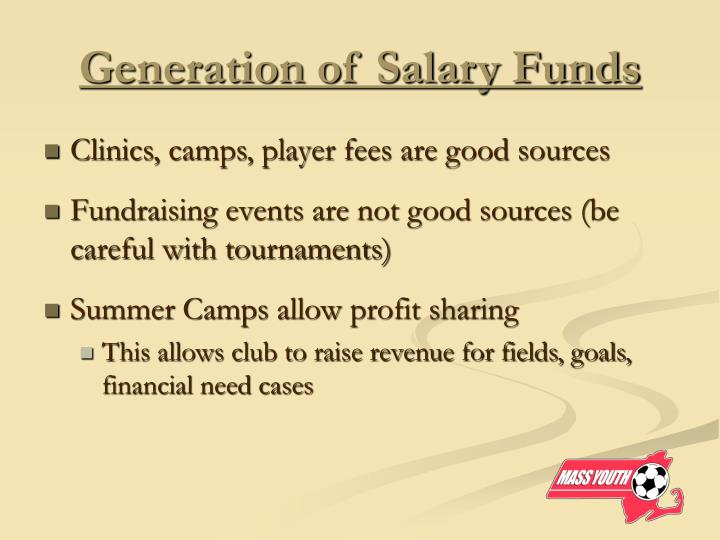 Generation of Salary Funds