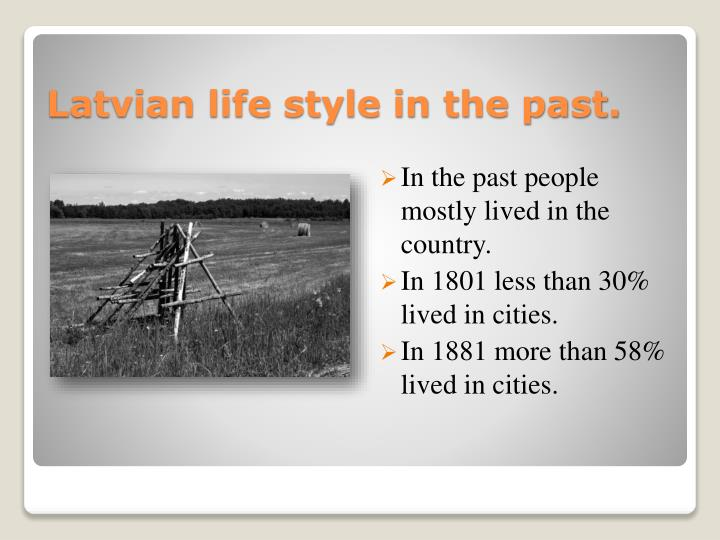 In the past people mostly lived in the country.