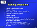 editing extensions