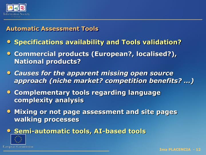 Automatic Assessment Tools