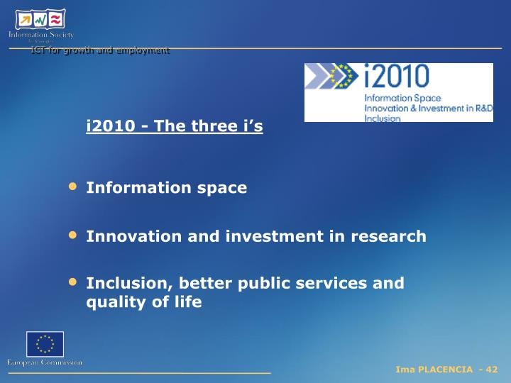 ICT for growth and employment