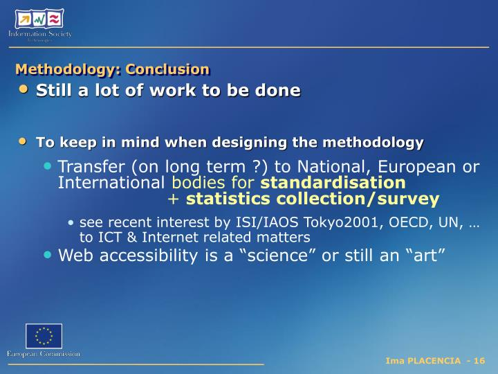 Methodology: Conclusion