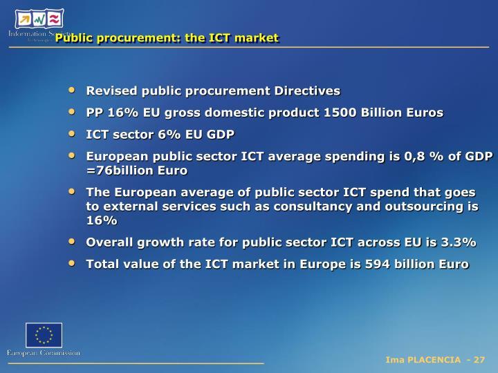 Public procurement: the ICT market