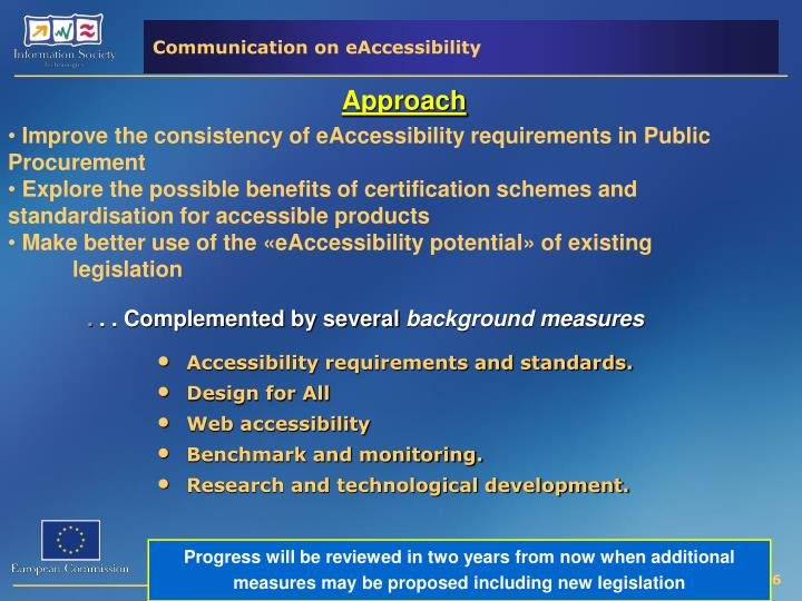 Communication on eAccessibility