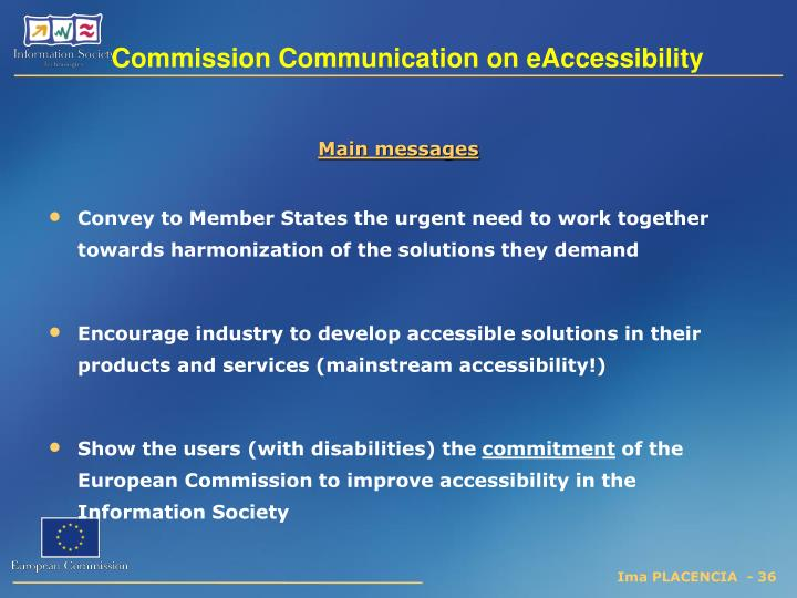 Commission Communication on eAccessibility