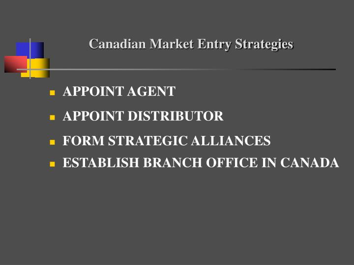Canadian Market Entry Strategies