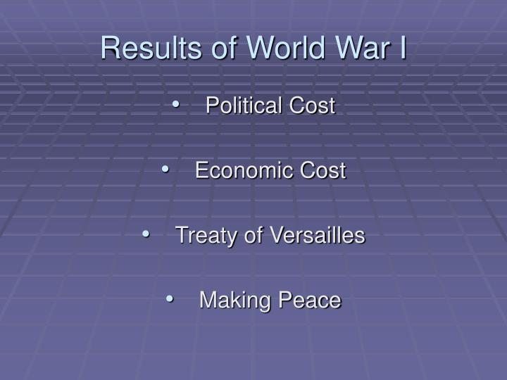 Results of World War I