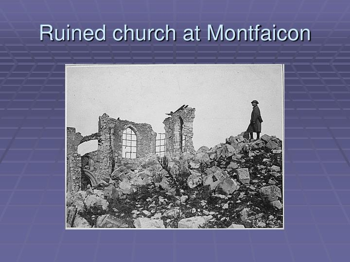 Ruined church at Montfaicon