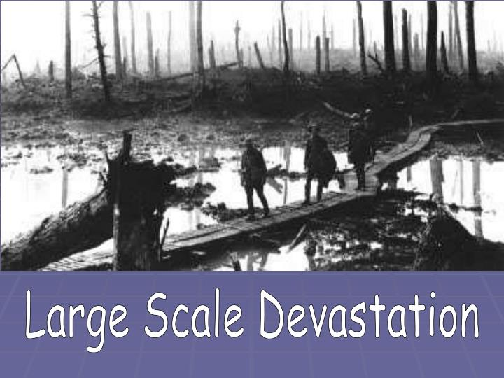 Large Scale Devastation