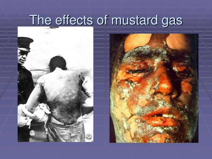 The effects of mustard gas