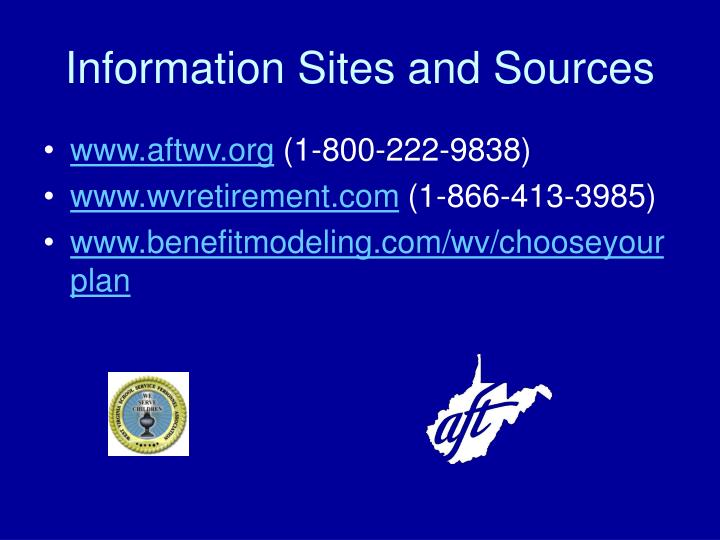 Information Sites and Sources
