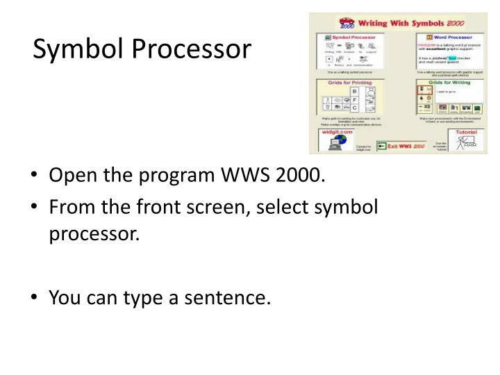 Symbol Processor