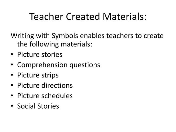 Teacher Created Materials: