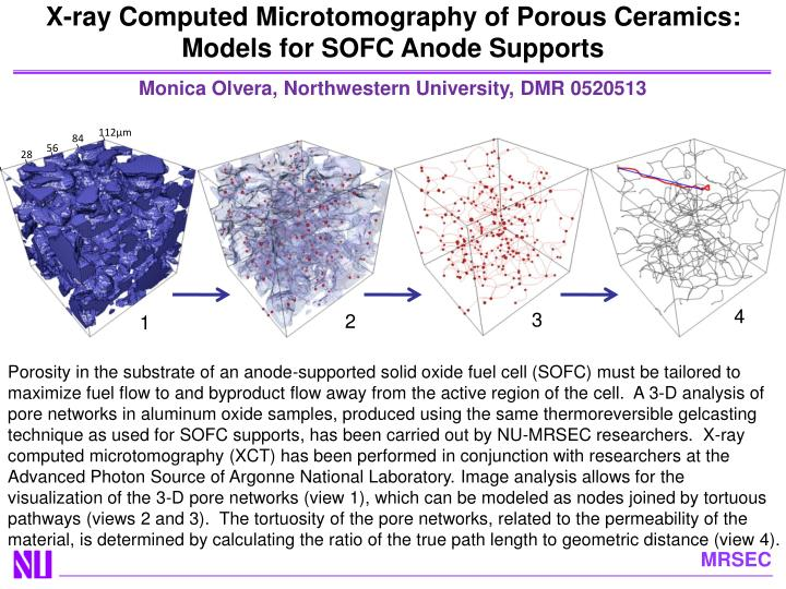 X-ray Computed Microtomography of Porous Ceramics: Models for SOFC Anode Supports