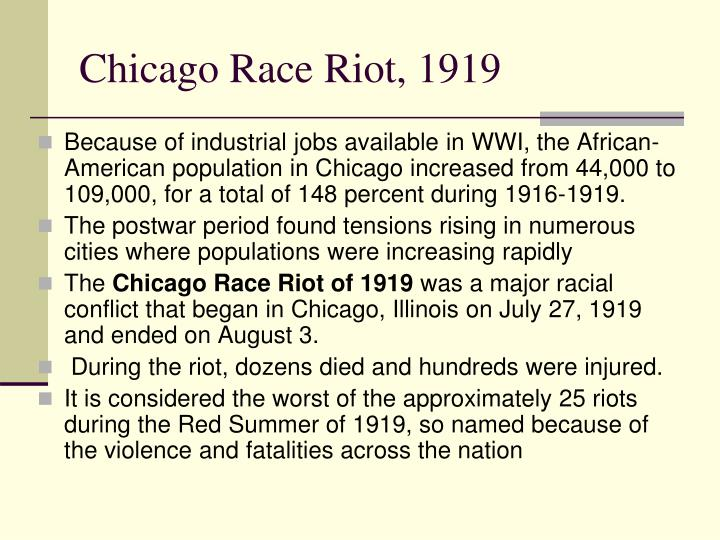 Chicago Race Riot, 1919