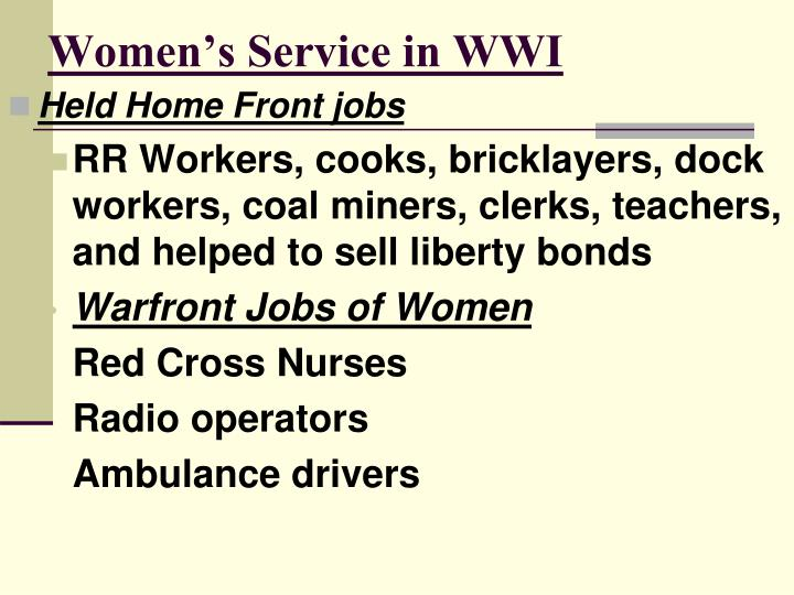 Women's Service in WWI