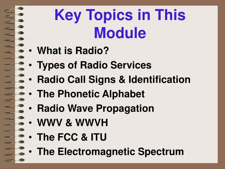 Key Topics in This Module