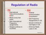 regulation of radio